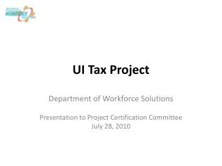 UI Tax Project