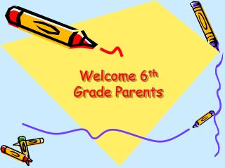 Welcome 6 th  Grade Parents