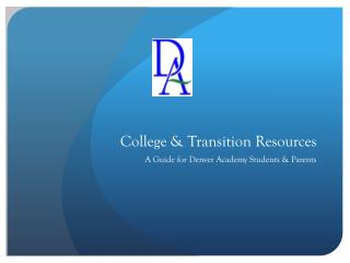 College & Transition Resources