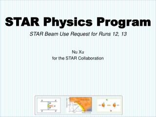 STAR Physics Program STAR Beam Use Request for  Runs 12, 13 Nu Xu for the STAR Collaboration