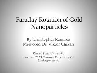 Faraday Rotation of Gold Nanoparticles
