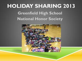 Holiday Sharing 2013