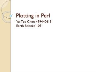 Plotting in Perl
