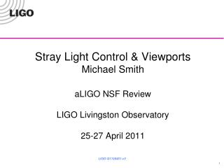 Stray Light Control Functions