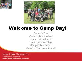 Welcome to Camp Day!