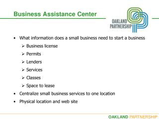 Business Assistance Center