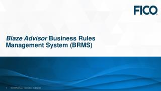 Blaze Advisor  Business Rules Management System (BRMS)