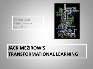 Jack  Mezirow's  Transformational Learning