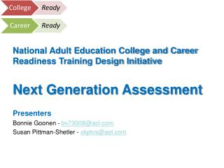 National Adult Education College and Career Readiness Training Design Initiative