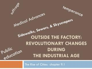 Outside the factory: revolutionary changes during  the  iNdustrial  age