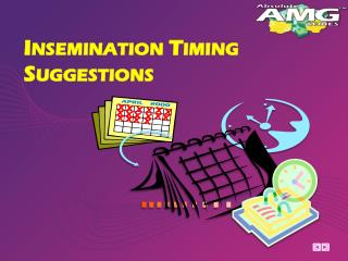 Insemination Timing Suggestions