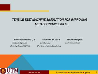 TENSILE TEST MACHINE SIMULATION FOR IMPROVING METACOGNITIVE SKILLS