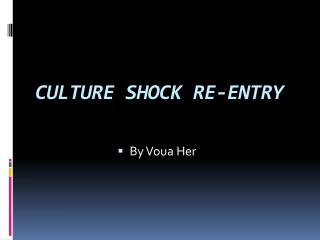CULTURE SHOCK RE-ENTRY