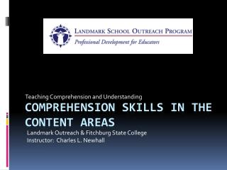 Comprehension Skills in the Content areas