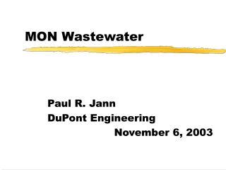 MON Wastewater