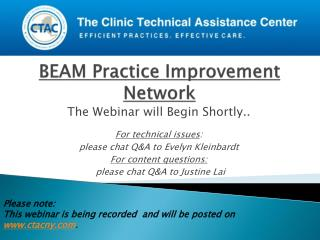 BEAM Practice Improvement Network