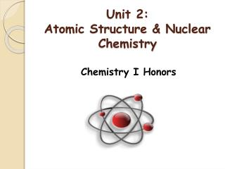 Unit 2:  Atomic Structure & Nuclear Chemistry
