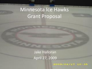 Minnesota Ice Hawks  Grant Proposal