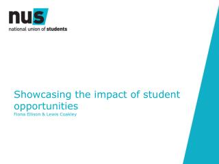 Showcasing the impact of student opportunities  Fiona Ellison & Lewis Coakley