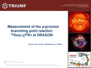 Measurement  of  the  p -process  branching point reaction  76 Se(α, γ ) 80 Kr  at DRAGON
