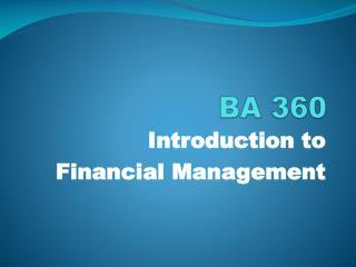 BA 360