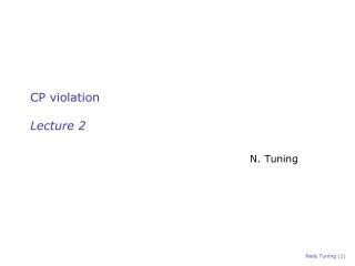 CP violation Lecture 2