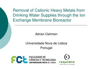 Removal of Cationic Heavy Metals from Drinking Water Supplies through the Ion Exchange Membrane Bioreactor