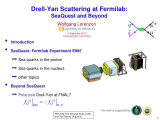 Drell -Yan Scattering at  Fermilab : SeaQuest  and Beyond