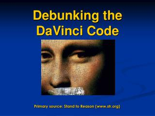 Debunking the DaVinci Code