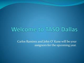 Welcome to TASO Dallas