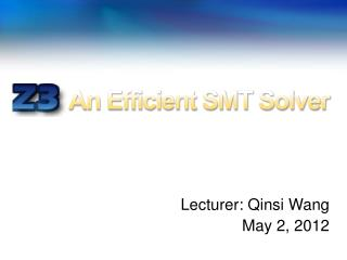 An Efficient SMT Solver