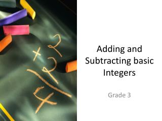 Adding and Subtracting basic Integers