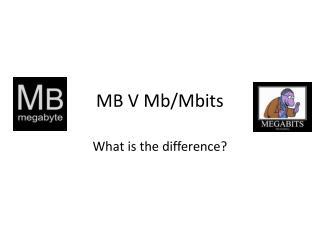 MB V Mb/ Mbits