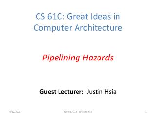Guest Lecturer:   Justin Hsia