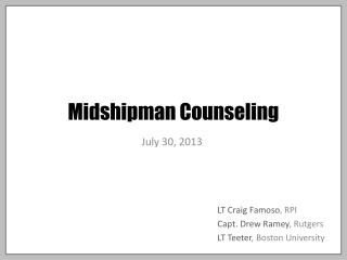 Midshipman Counseling