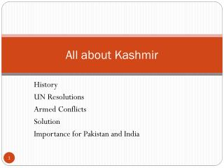 All about Kashmir