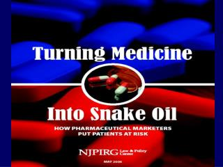 A Multi-Headed Hydra Turned Medicine into Snake Oil  Vera Sharav Alliance for Human Research Protection November 17, 200