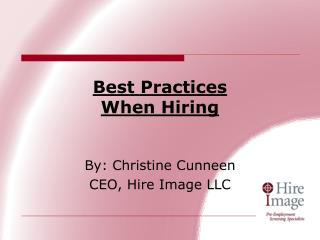 Best Practices When Hiring