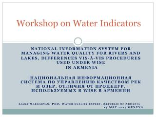 Workshop on Water Indicators
