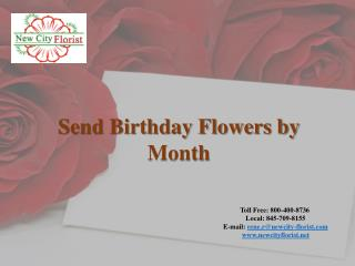 Send Birthday Flowers by Month