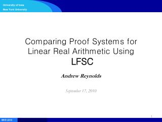 Comparing Proof Systems for Linear Real Arithmetic Using LFSC