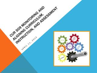 CUR 509 Monitoring and Aligning Curriculum, Instruction, and Assessment