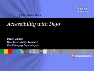 Accessibility with Dojo