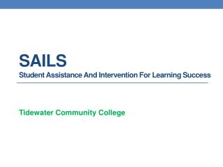 SAILS  Student Assistance And Intervention For Learning Success