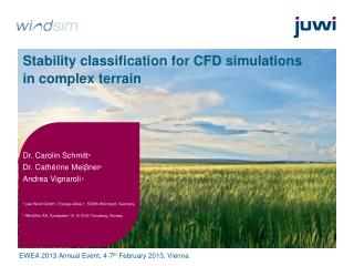 Stability classification for CFD simulations in complex terrain