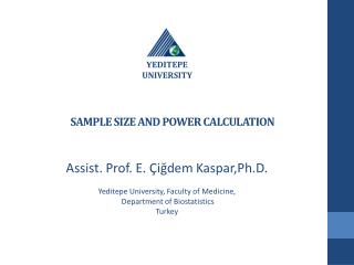 SAMPLE SIZE AND POWER  CALCULATION