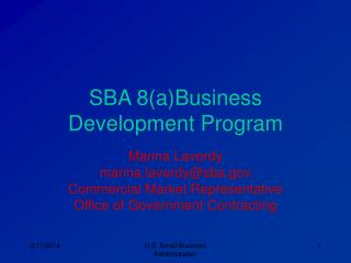 SBA 8(a)Business Development Program
