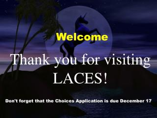 Thank you for visiting LACES!