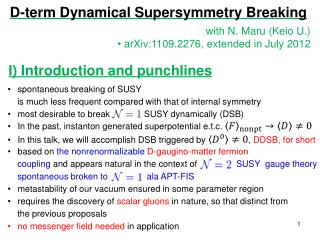 D-term Dynamical Supersymmetry Breaking