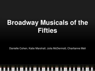 Broadway Musicals of the Fifties